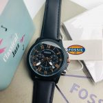 Fossil Crono Leather Belt Men's watch